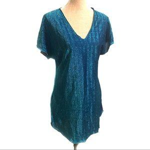 Vintage sparkly disco top blouse